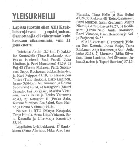 kauklainen 1992