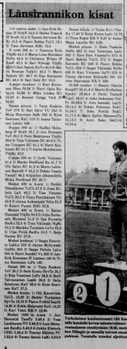 1981 tulokset
