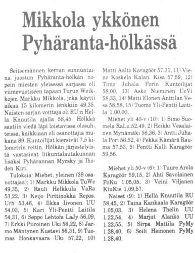 pyhäranta 1982