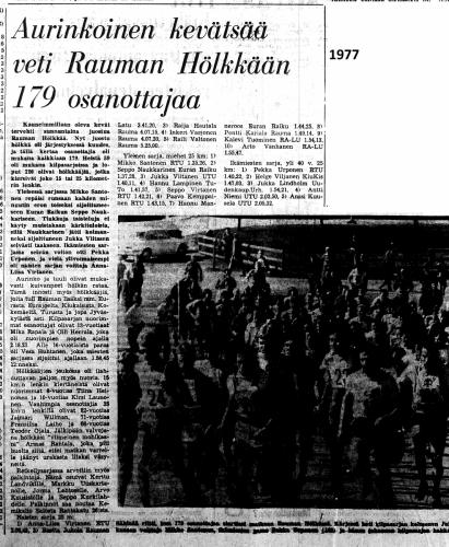 rauma hölkkä 1977 tulokset