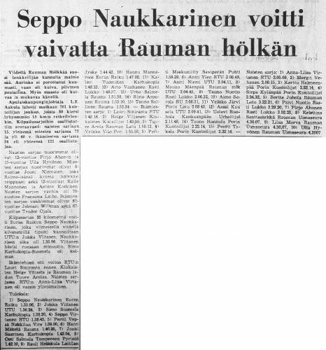 rauman hölkkä 1976 tulokset